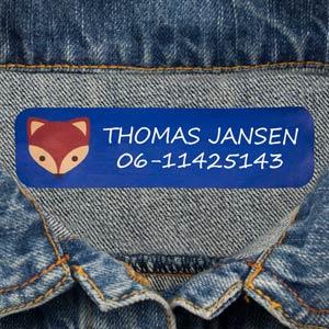 Grote naamlabels voor kleding