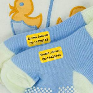 Mini naamlabels voor kleding
