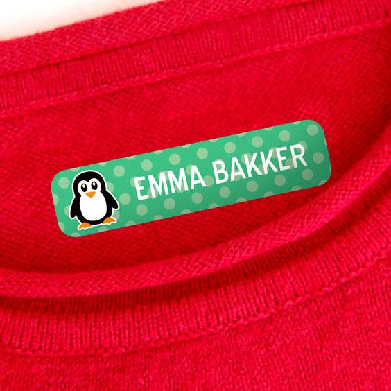 Kleine naamlabels voor kleding