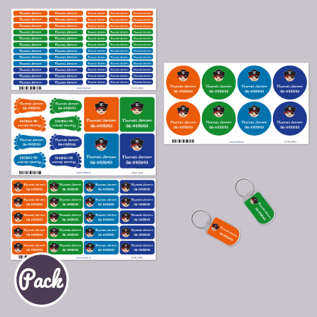 Pakket naamstickers